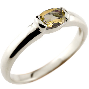 [送料無料]シトリンリング プラチナ900指輪 プラチナリング ピンキーリング 11月誕生石【コンビニ受取対応商品】