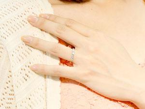 []ハーフエタニティリング プラチナリング ダイヤモンドリング エンゲージリング 婚約指輪 一粒ダイヤモンド 0.16ct 爪なし【楽ギフ_包装】【コンビニ受取対応商品】