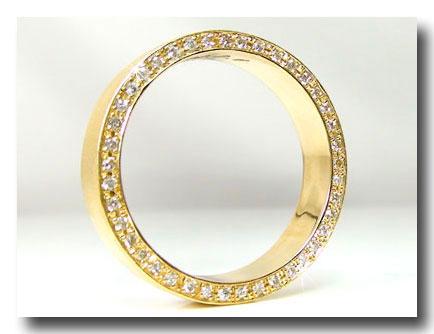 ダイヤモンドリング K18 エタニティリング 指輪 ダイヤモンド 0.18ct 豪華なエタニティ エンゲージリング 婚約指輪 イエローゴールドk18 レディース メンズ18k 18金【コンビニ受取対応商品】 大きいサイズ対応 送料無料