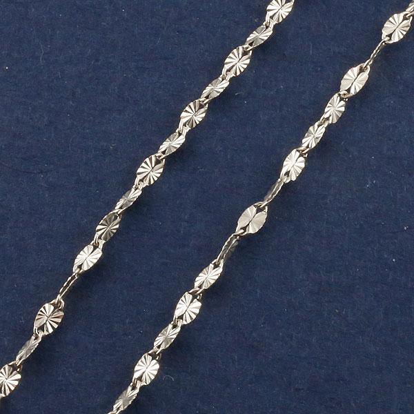 10金 ネックレスチェーン ネックレス 40cm デザインチェーン ホワイトゴールドk10 1.8ミリ幅 10k【コンビニ受取対応商品】 クリスマス