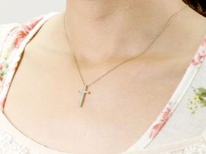 クロス ネックレス ダイヤモンド ペンダント ホワイトゴールドk18 ダイヤ 十字架 レディース楽ギフ 包装コンビニ受取対応商品送料無料PkuTXiOZ