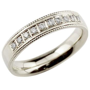 []ダイヤモンドリング 指輪 ダイヤ シンプルストレートホワイトゴールドk18 レディース18k 18金【楽ギフ_包装】【コンビニ受取対応商品】