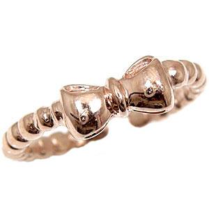 [送料無料]トゥリング 足の指輪 ピンクゴールドk18 オリジナル リボン りぼん 足指リング トウリング フリーサイズリング ピンキーとしてもOK18k 18金【コンビニ受取対応商品】