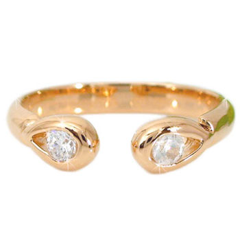トゥリング 足の指輪 ピンクゴールドk18 k18PG 4月の誕生石ダイヤモンド足指リング トウリング フリーサイズリング ピンキーとしてもOK18k 18金【コンビニ受取対応商品】 大きいサイズ対応 送料無料
