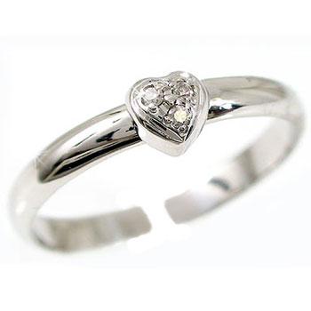 [送料無料]トゥリング 足の指輪 プラチナリング ダイヤモンド ハート 4月の誕生石ダイヤモンド 足指リング トウリング フリーサイズリング ピンキーとしてもOK【コンビニ受取対応商品】