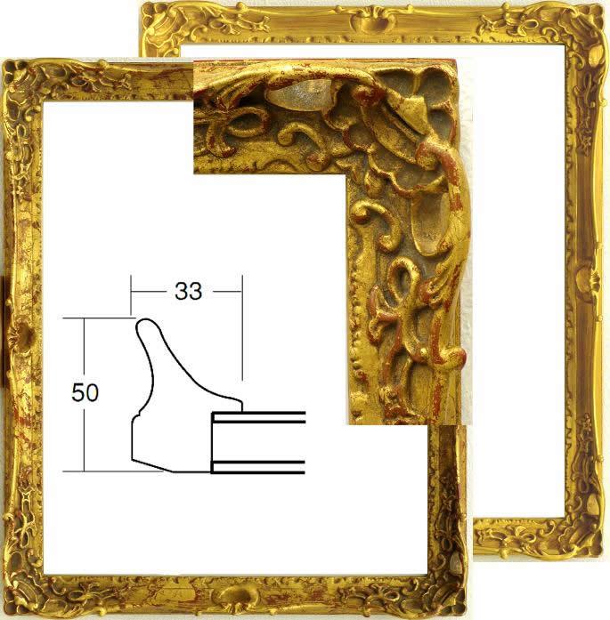 大額、額縁、デッサン額 四つ切 ゴールド、古代ゴールド、大判アクリル仕様