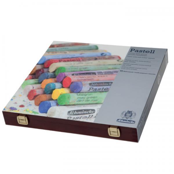 シュミンケソフトパステル 45色 木箱入り 画材 代引き無料