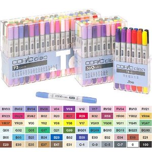 Copic chao 72Aset with 36x2 plastic case