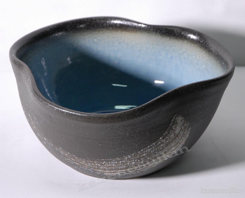 青釉刷毛目水鉢(12号)【睡蓮(スイレン)鉢】【信楽焼き】(金魚鉢・メダカ鉢・陶器・水鉢)