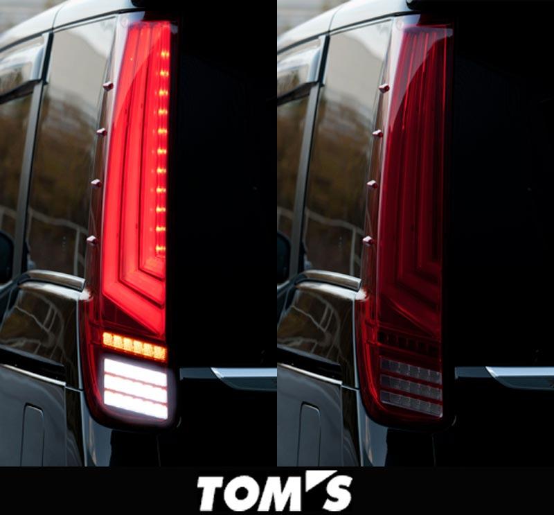 【 ノア・ヴォクシー ZRR80W, ZRR85W, ZWR80G 前期型用 】 トムス LEDテールランプ 品番コード: 81500-TZR80 ( TOM's 正規品 ) ◎流れるウィンカー(流灯式) ※送料無料 (沖縄県および離島は除く)