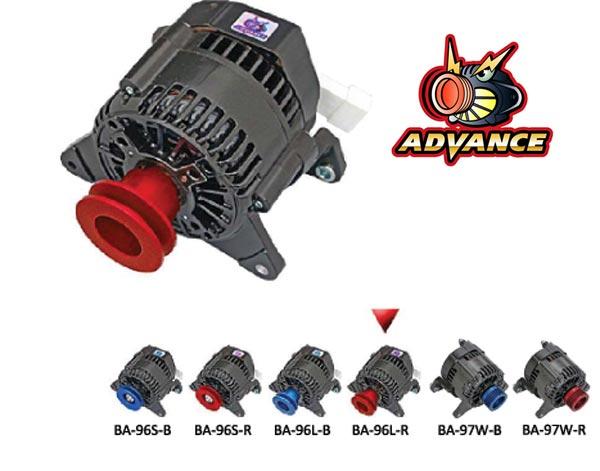 【 ~1996年 ローバー ミニ 1300cc エアコン付き車用 】 アドバンス ブラック オルタネーター 品番: BA-96L-R (ROVER MINI ADVANCE BLACK ALTERNATOR)