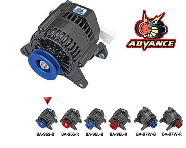 【 ~1996年 ローバー ミニ 1000cc共通/1300ccエアコンレス車用 】 アドバンス ブラック オルタネーター 品番: BA-96S-B (ROVER MINI ADVANCE BLACK ALTERNATOR) ※送料無料 (沖縄県および離島は除く)