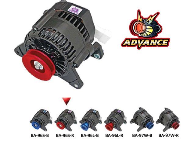 【 ~1996年 ローバー ミニ 1000cc共通/1300ccエアコンレス車用 】 アドバンス ブラック オルタネーター 品番: BA-96S-R (ROVER MINI ADVANCE BLACK ALTERNATOR) ※送料無料 (沖縄県および離島は除く)