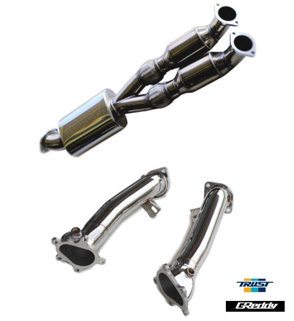 送料無料!! 【 NISSAN GT-R CBA-R35 / VR38DETT用 】 トラスト グレッディー スポーツキャタライザー 76×2~90 R35用 コード: 10624001 ( TRUST GReddy Sports Catalyzer for GT-R R35 ) 【smtb-TD】【saitama】