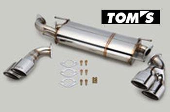 【 TOYOTA 86 (ハチロク) DBA-ZN6 / FA20用 】 トムス エギゾーストシステム バレルマフラー 4テール 品番コード: 17400-TZN61 ( TOM'S Exhaust System Barrel )