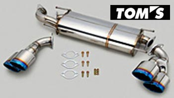【 TOYOTA 86 (ハチロク) DBA-ZN6 / FA20用 】 トムス エギゾーストシステム バレルマフラー チタン4テール 品番コード: 17400-TZN62 ( TOM'S Exhaust System Barrel )
