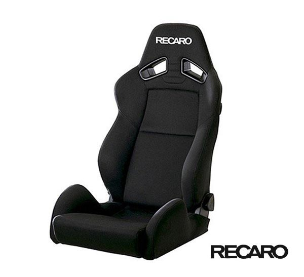 RECARO SR-7 KK100 (セミバケット スポーツシート) カムイ×カムイ生地 ブラック×ブラック 品番: 81-092.00.829-0 (レカロ正規品)