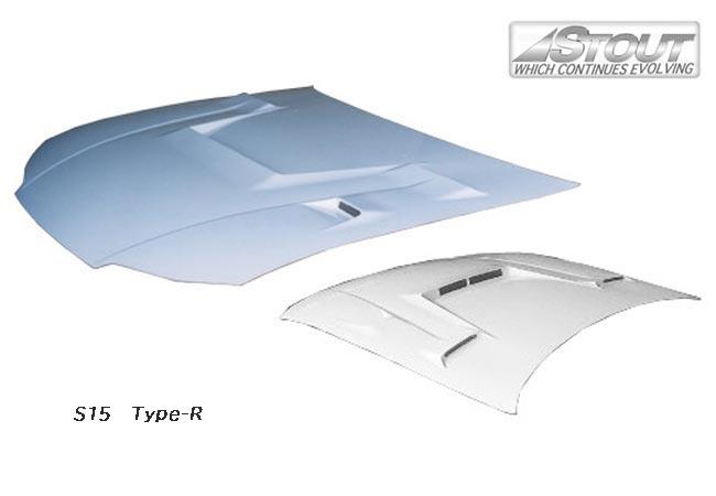 【 シルビア S15 用 】 STOUT エアロボンネット Type-R (FRP製) for NISSAN SILVIA [高瀬スタウト 軽量ボンネット]
