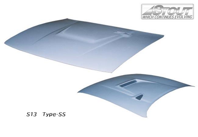 【 シルビア S13, PS13 用 】 STOUT エアロボンネット Type-R (FRP製) for NISSAN SILVIA [高瀬スタウト 軽量ボンネット]