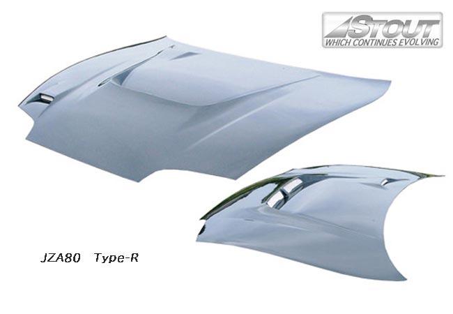 【 スープラ JZA80 用 】 STOUT エアロボンネット Type-R (平織カーボン製) for TOYOTA SUPRA [高瀬スタウト 軽量ボンネット]