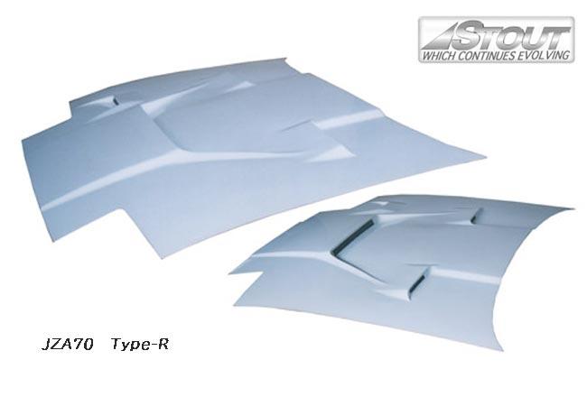 【 スープラ JZA70 用 】 STOUT エアロボンネット Type-R (綾織カーボン製) for TOYOTA SUPRA [高瀬スタウト 軽量ボンネット]