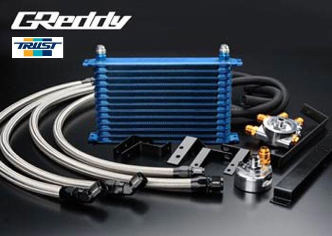 【 スカイライン GT-R BNR32 / RB26DETT 用 】 トラスト GReddy オイルクーラーキット (オイルエレメント移動タイプ) 13段  コード: 12024413 (TRUST GReddy Oilcooler Relocation Kit)