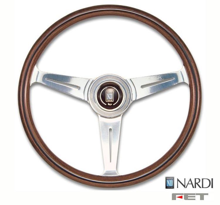 [ FET NARDI CLASSIC WOOD 36φ ] 360mm ウッド&ポリッシュスポーク 品番: N120 (FET 正規品 ナルディ クラシック ウッド) ※送料無料 (沖縄県および離島は除く)