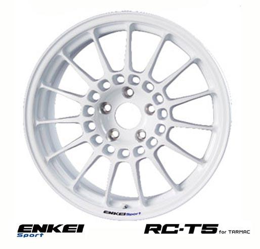 【 ENKEI Sports RC-T5 for TARMAC 】 17インチ 8.5J 5H-100 +45 ホワイト 1本 (エンケイ スポーツ 軽量ホイール)
