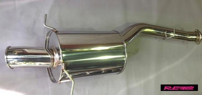 【 RX-7 FD3S / 13B-REW 用 】 RE雨宮 90カール ドルフィン テールマフラー Fr80 品番: M0-022036-054 (RE-AMEMIYA 90Curl Dolphin Tail Muffler Fr80)