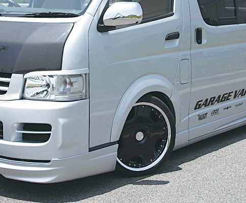ハイエース 200系 標準ボディーワイドボディー1~4型共通 GARAGE VARY VALIANT ガレージベリー ヴァリアント オーバーフェンダー (FRP製) 片側20mmタイプ 商品コード:17-5201