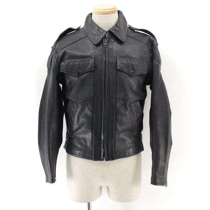 古着 80s ハーレーダビッドソンOLD レザージャケット★80年代アメリカ古着アメカジ古着メンズ 古着中古 ユーズドXSサイズ 小さいサイズ 黒ブラックハーレー プレゼント ギフト 衣装