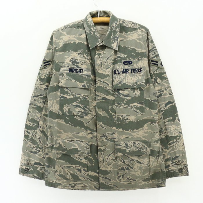 2,000s U.S. air force digital duck camouflage military jacket ★ United States old clothes American casual old clothes men old clothes used you