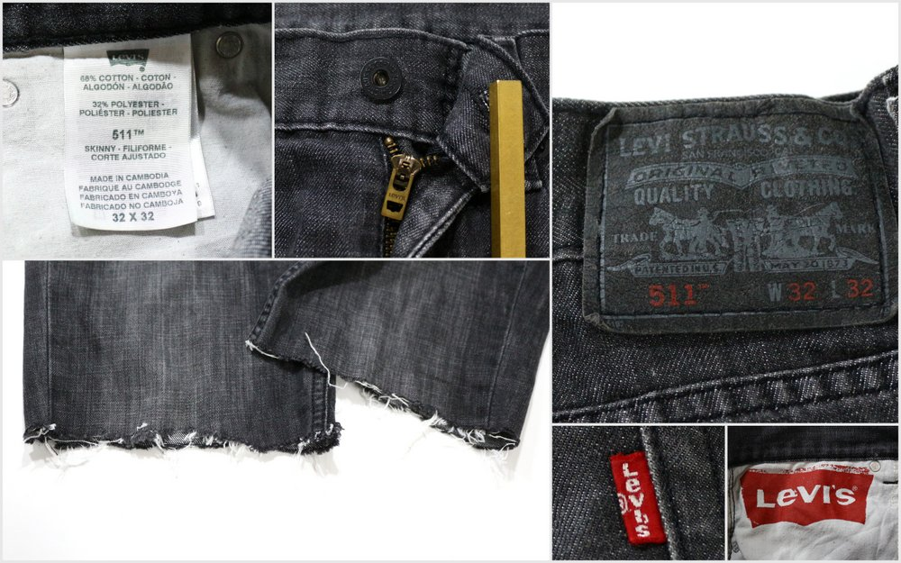 1adeb822 ... 2,000s Levis 511 black denim cut-off shorts ☆ United States old clothes  American