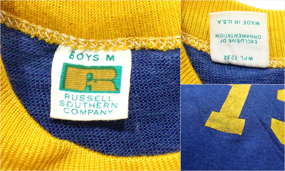 60s old clothes raschel vintage Boys athletic T-shirt ★ 60s United States  old clothes American casual old clothes Boys old clothes used