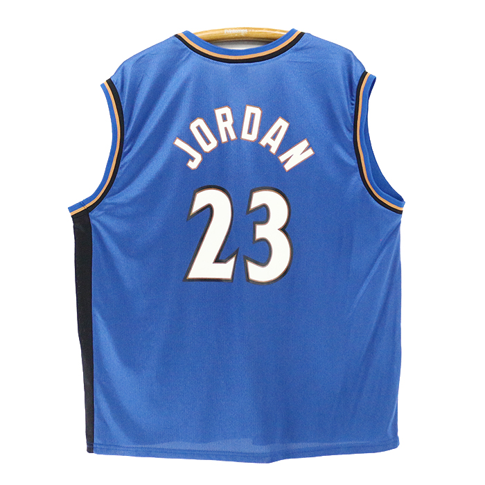 new style 04f47 7d078 The size blue game jersey basketball present gift which NBA Wizards Michael  Jordan tank top ★ United States old clothes American casual old clothes ...