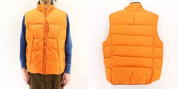 b64c273e0 2,000s GAP down vest ★ United States old clothes American casual old  clothes men old clothes used ユーズド large size gap best nylon best orange ...