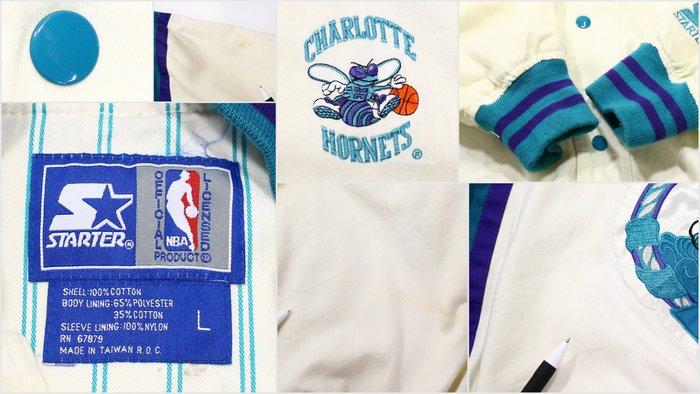 90sスターター製NBAホーネッツOLDスタジャン 90's1990年代アメリカ古着アメカジ古着メンズ古着ユーズドXLサイズLサE29IWDHY