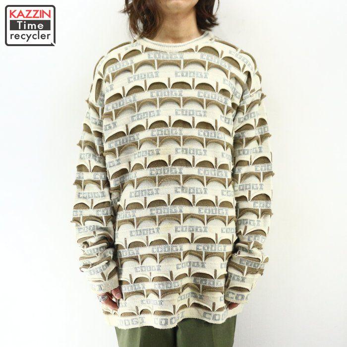 大人気新品 90年代 古着 COOGI クージー 総柄 3Dニット セーター ★ XXLサイズ プレゼント ギフト 衣装, 稲川町 e4840e52
