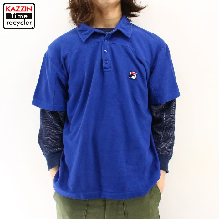 Old clothes 90s FILA short sleeves polo shirt ★ 90s United States old  clothes American casual old clothes men old clothes used ユーズド large size  short