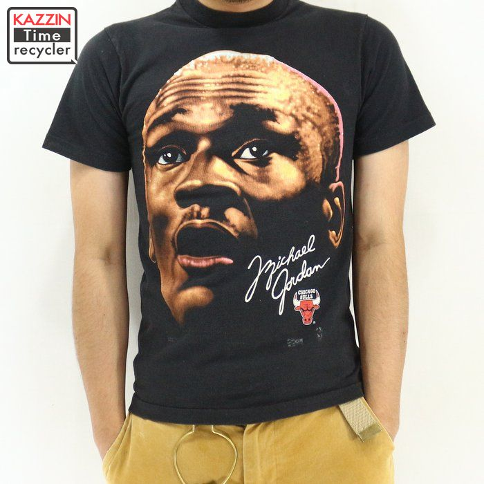 7c3d6c2b0dbe59 Vintage Clothing shop KAZZIN Time recycler  Black black basketball T-shirt  for 90s in the NBA Bulls Michael Jordan T-shirt ☆ 90s made in the XS size  United ...