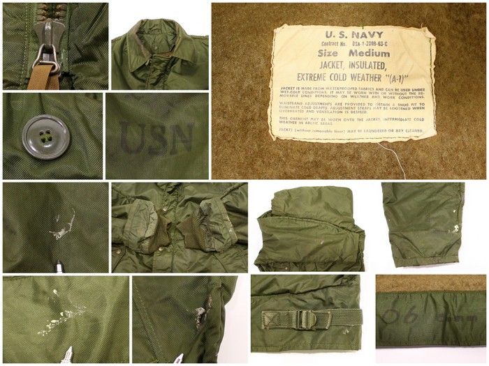 2321511f9b8 The size big size military jacket green U.S. forces which old clothes US  Navy A-1 deck jacket ☆ 60s XL size large size has a big for 60s