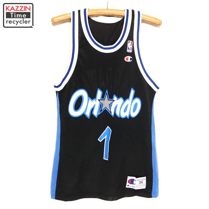 best sneakers 8a865 b1d7e NBA Orlando Magic mesh tank top ★ 90s XS size black game jersey champion  Christmas present gift for old clothes 90s made of champion