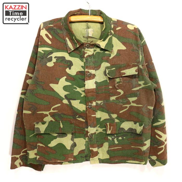 80s camouflage shirt jacket