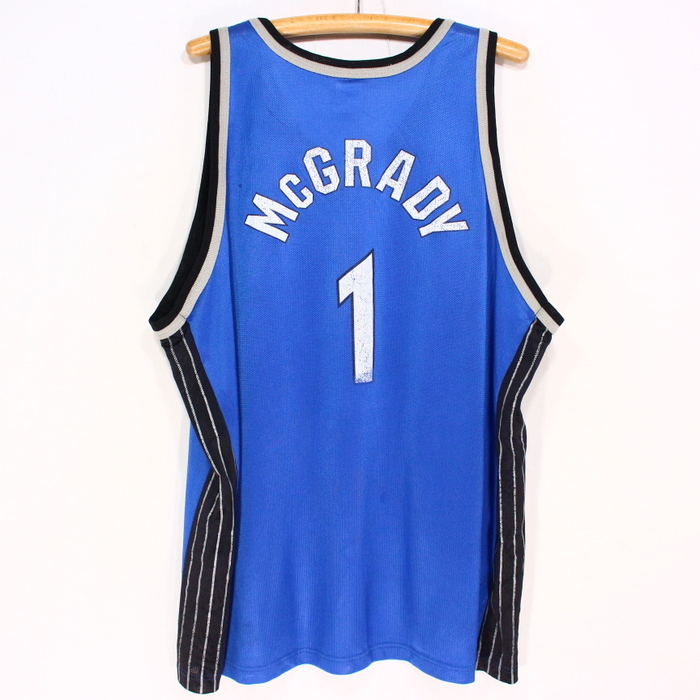 wholesale dealer 2c6fb 7684d The size big size game jersey blue Christmas present gift which champion  NBA Orlando Magic tank top ★ 90s XL size has a big for old clothes 90s