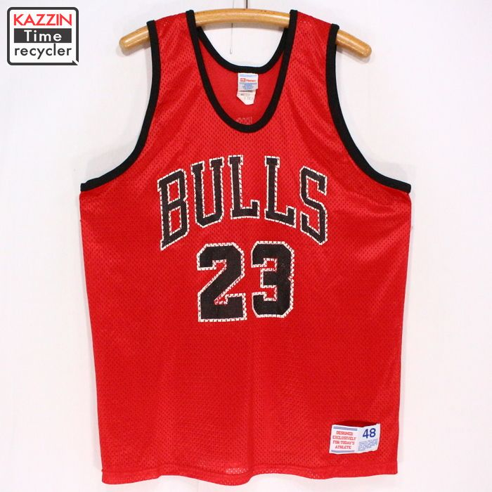 detailed pictures 15812 d64bf 2,000s Hanes NBA Bulls mesh tank top ★ large size red red basketball  Michael Jordan game jersey present gift