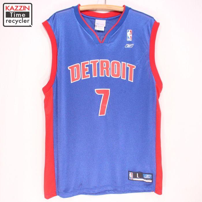 official photos 04355 df8bf 2,000s Reebok NBA Detroit Pistons uniform ★ XL size big size big size game  jersey basketball blue Reebok Christmas present gift
