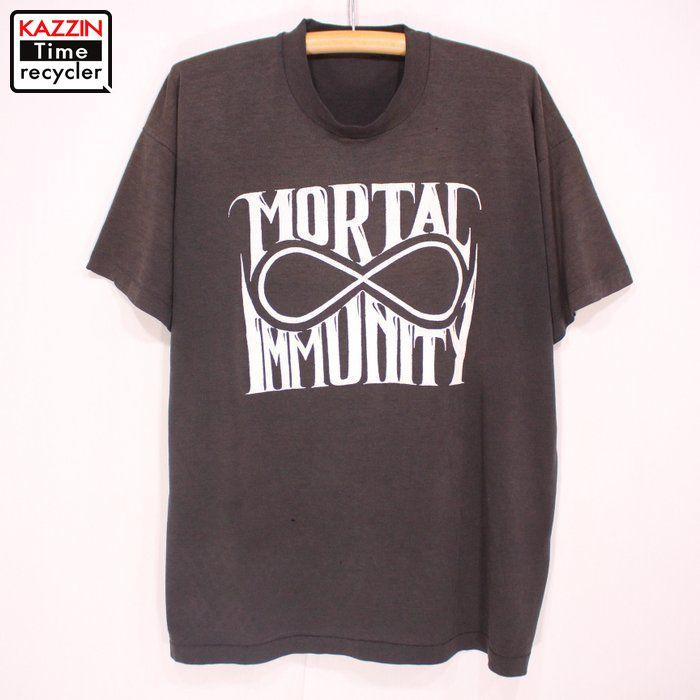 90s MORTAL IMMUNITY ロックTシャツ 90年代 出色 古着 ユーズド Lサイズ ブラック モータルイミュニティー プレゼント ヴィンテージ USA製 バンドTシャツ バンドモータルイミュニティー ギフト 現品 アメリカ製 衣装