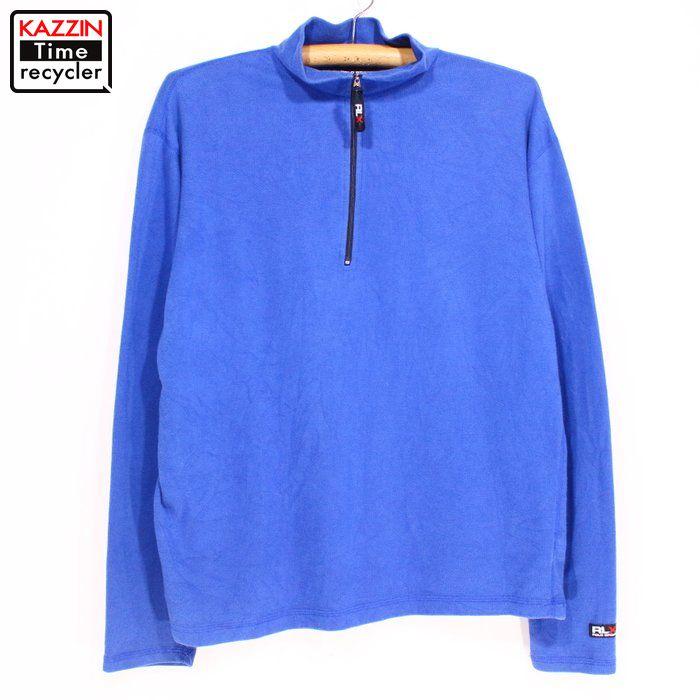 90s ポロスポーツ 情熱セール RLX プルオーバーシャツ 90年代 USA買い付け 古着 中古 ユーズド 衣装 日本メーカー新品 POLO ブルー Lサイズ プレゼント ギフト ラルフローレン