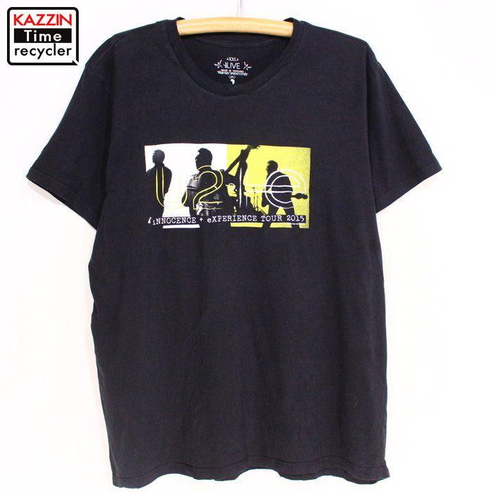 人気ブランド多数対象 2000s U2 ロックTシャツ 格安 価格でご提供いたします USA買い付け 古着 中古 ユーズド Lサイズ バンド ブラック 黒 プレゼント ギフト バンドTシャツ 衣装