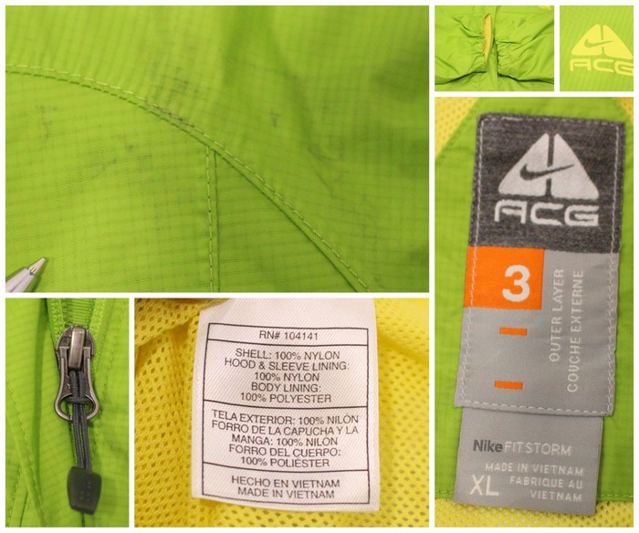 2,000s NIKE ACG nylon jacket ★ large size Nike lime green present gift clothes